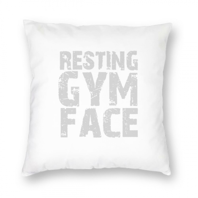 """Resting Gym Face Meme Funny Gym Workout Pillow Cover (18""""x18"""")"""